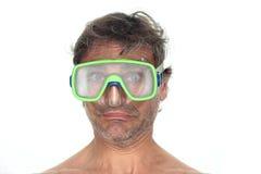 Buceador en gafas Imagen de archivo libre de regalías