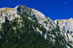 bucegi喀尔巴阡山脉的山全景土坎 免版税图库摄影