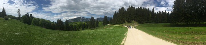 Bucegi山全景,罗马尼亚 免版税库存图片