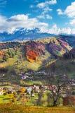 Bucegi山在秋天 图库摄影
