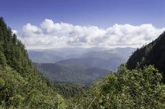 Bucegi山风景在夏天 免版税库存照片