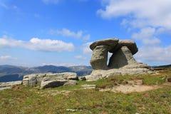 Bucegi berg - Babele Royaltyfria Bilder