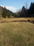 Bucegi berg, rumänska berg arkivfoto