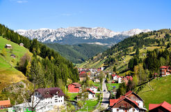 Bucegi-Berge, Moeciu de Sus lizenzfreie stockfotos