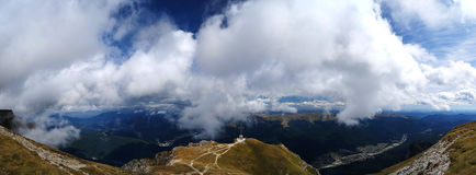 Bucegi Caraiman Cross Panorama Royalty Free Stock Photography