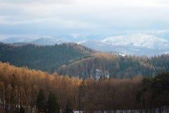 Bucegi-Gebirgslandschaft stockbild