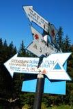 Bucegi mountain indicator Stock Images