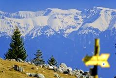 Bucegi Mountain in Romania stock images