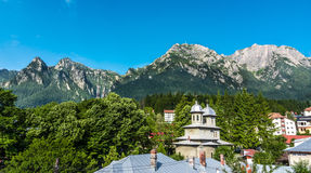 Bucegi Mountain view from Busteni Royalty Free Stock Image