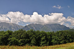 Bucegi Mountains. A beautiful view to Bucegi Mountains,Romania royalty free stock image