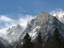 Bucegi mountains. Snow storm in Bucegi mountains Royalty Free Stock Photo
