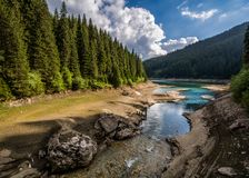 Bucegi Mountains , Bolboci lake. In the Carpathian mountains royalty free stock image