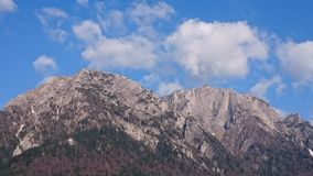 Bucegi mountains, Caraiman and Costila steep rocky cliffs Royalty Free Stock Images