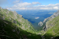 Bucegi Mountains  in centralRomania with unusual rock formations SphinxandBabele Stock Photography