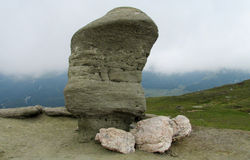 Bucegi Mountains  in central Romania with unusual rock formations Sphinx and Babele. Royalty Free Stock Images