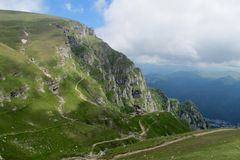 Bucegi Mountains  in centralRomania with unusual rock formations SphinxandBabele Royalty Free Stock Images
