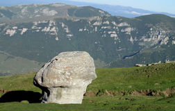 Bucegi Mountains  in central Romania with unusual rock formations Sphinx and Babele Stock Photos