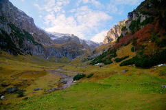 Bucegi Mountains landscape. Landscape of Malaiesti Valley from Bucegi Mountains, Romania Stock Photography