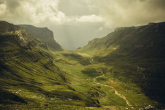 Bucegi mountains. Landscape view in Bucegi mountains next to peak Omu stock photography