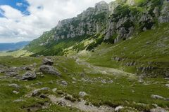 Bucegi Mountains. Are located in Carpatii Meridionali, Romania stock photography