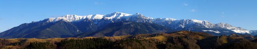 Bucegi mountains panorama Royalty Free Stock Photo