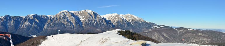 Bucegi mountains panorama - Caraiman and Costila Stock Photo