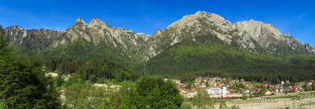 Bucegi mountains panorama, Carpathians,Romania. Bucegi mountains panorama, view from Busteni,Romania Stock Photography