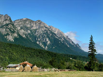 Bucegi mountains in Romania. Bucegi of Carpathian ridge, are the most famous mountains in Romania royalty free stock photography