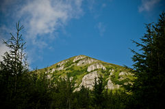 Bucegi Mountains, Romania. Beautiful peak in Bucegi Mountains, Romania Royalty Free Stock Photos