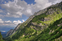 The Bucegi Mountains, Romania, HDR Royalty Free Stock Photo