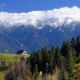 Bucegi mountains Romania. Scenic Bucegi mountainside, central Romania royalty free stock image