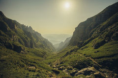 Bucegi Mountains. Romania. View from the route to peak Omu Stock Photography