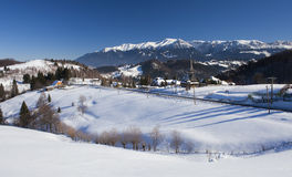 Bucegi mountains in Romanian Carpathians, winter scene Royalty Free Stock Image