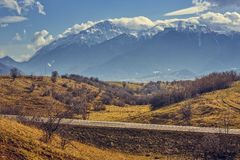 Bucegi mountains scenery Royalty Free Stock Image