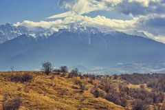 Bucegi mountains vernal landscape Stock Photo