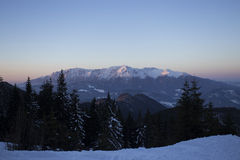 Bucegi mountains in winter - Romania Royalty Free Stock Photography