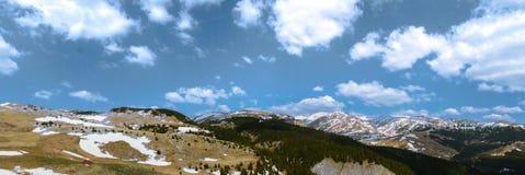Bucegi panorama 1 Arkivbild