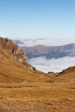 Bucegi View Above the Clouds Royalty Free Stock Photo