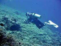 Buceo con escafandra Foto de archivo