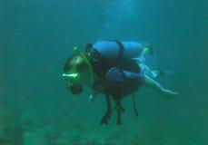 Buceo con escafandra Imagen de archivo libre de regalías