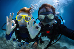 Buceo con escafandra Fotografía de archivo libre de regalías