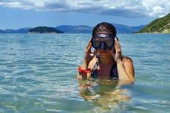 Buceo con escafandra Fotos de archivo