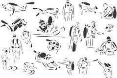 Buceo con escafandra Imagen de archivo