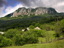 Buces mountain. Buces-Vulcan mountain are only 1200 meter high but are spectacular because of limestone walls Royalty Free Stock Image