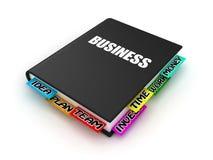 Buch über Geschäft Stockfotografie
