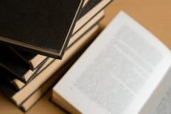 Buch-Ansammlung Stockbild