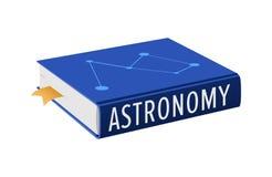 Buch auf Astronomie mit Bookmark-Vektor-Illustration vektor abbildung