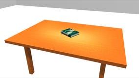 Buch auf der Tabelle lizenzfreie abbildung