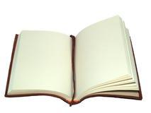 Buch auf einer geöffneten Seite Lizenzfreie Stockfotografie