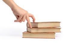 Buch auf weißem Hintergrund Lizenzfreies Stockfoto